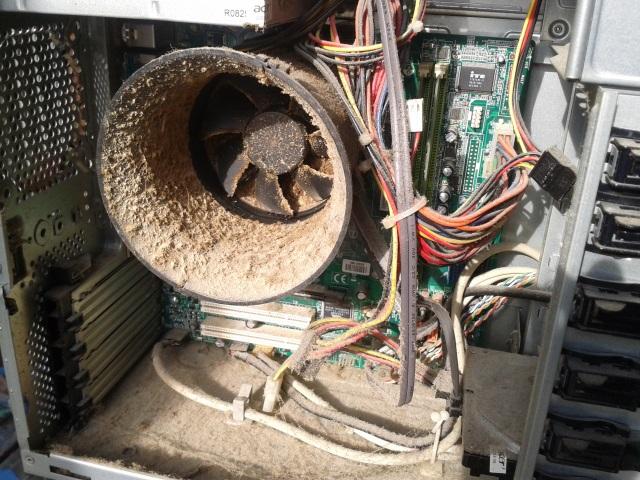 Znečištěný počítač